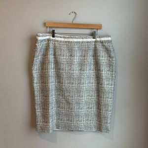 Boden sz 16 long fully lined pencil skirt